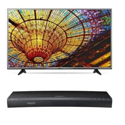 "49"" LG 49UH6030 4K Smart HDTV + Samsung 3D 4K Blu-ray Player  $499 + Free Shipping"
