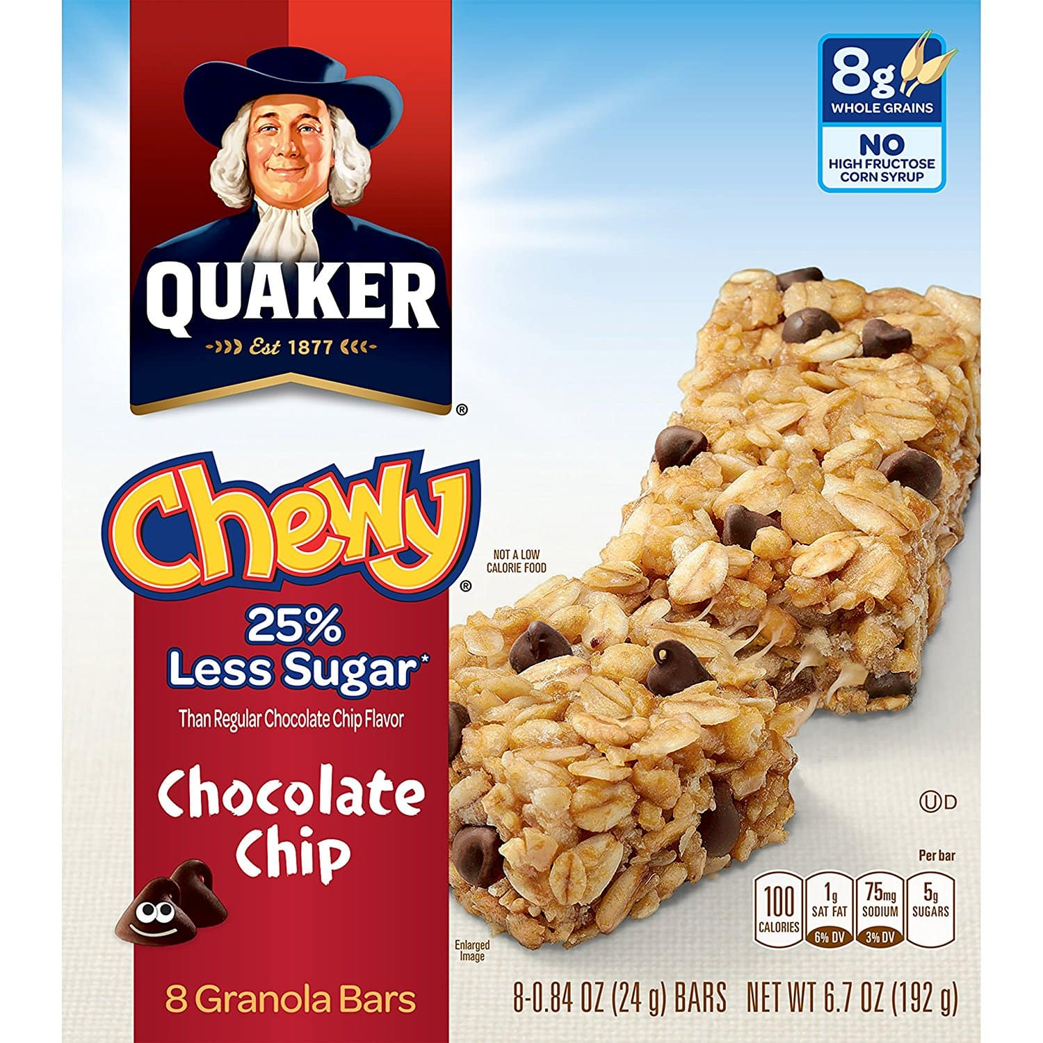 Prime Members: 6-Pack of 8-Ct Quaker Chewy Granola Bars (Various)  $9.60 + Free Shipping