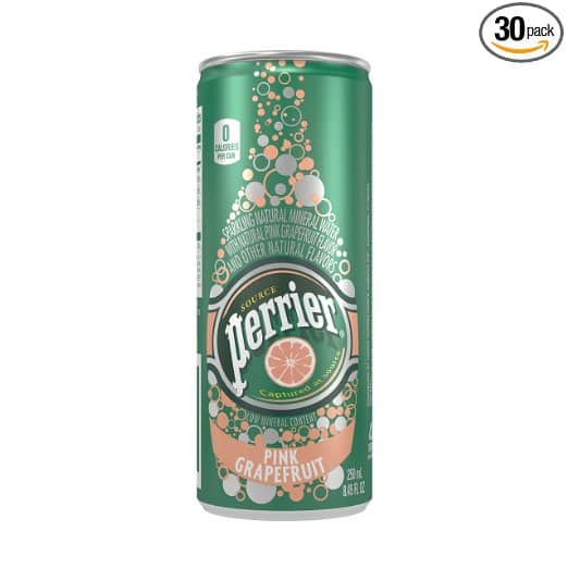 30-Pack Perrier Sparkling Natural Mineral Water in Pink Grapefruit (8.45oz ea) for $8.98 or less *Prime Members Only*