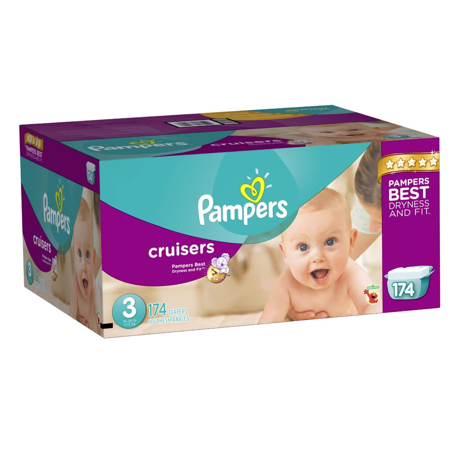 Amazon Family Members: 174-Ct Pampers Cruisers Size 3 Diapers  $24.20 + Free Shipping