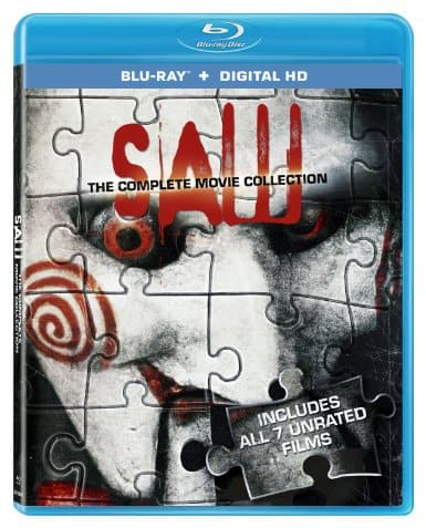 Saw: The Complete Movie Collection (Blu-ray + Digital HD)  $9.75