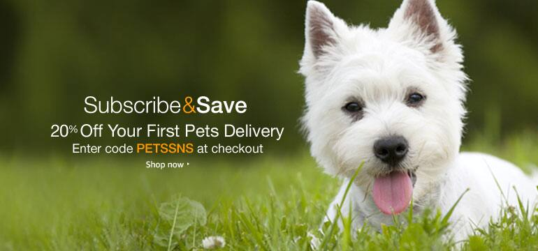 """Amazon - Extra 20% off """"First"""" Pet Food & Supplies Subscribe & Save Delivery - YMMV"""