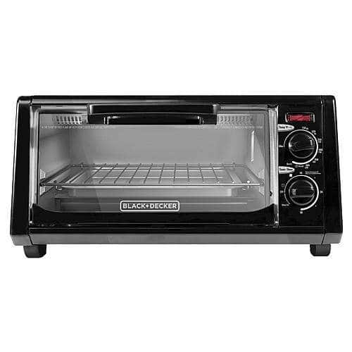 BLACK+DECKER 4 Slice Toaster Oven $11 + 110SWYR, FS for SYWM or free store pick up