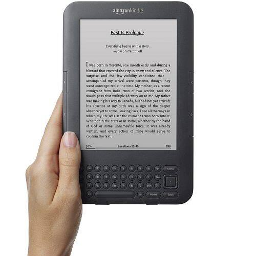 """Amazon Kindle Keyboard Wi-Fi E-Reader (Includes Special Offers), 6"""" E-Ink Display (refurbished) $14.99+$5 shipping @ Woot"""