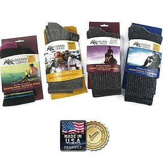 2-Pairs of Mountain Lodge Merino Wool Socks $7.99 + Free Shipping