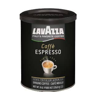 4-Pack Lavazza Caffe Espresso (Medium Ground Coffee, 8-Ounce Cans) $14.55 or less + free shipping @ Amazon