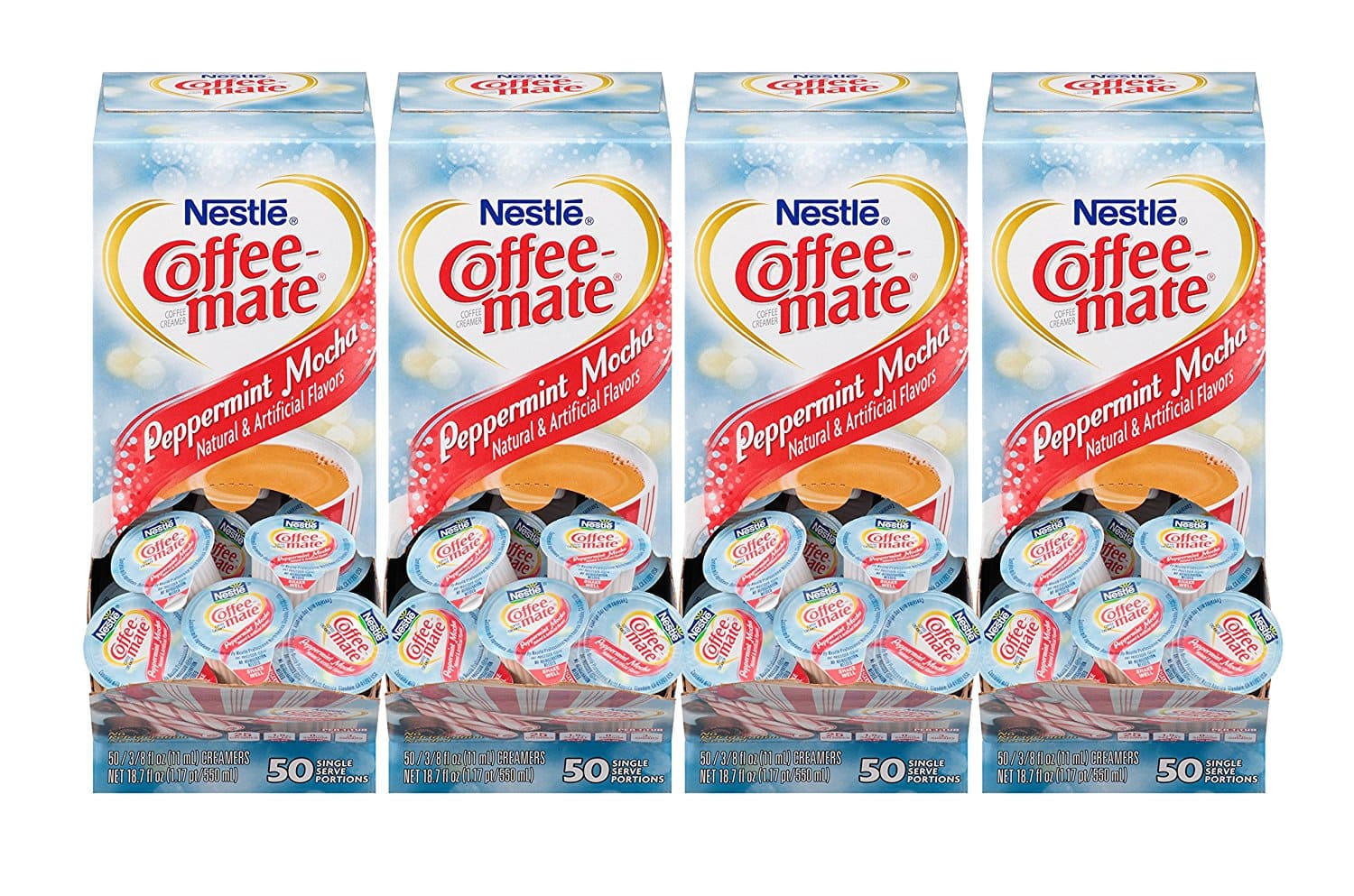 4-Pack 50-Count Nestle Coffee-Mate Creamer Singles (Peppermint Mocha) $7.60 or less + free shipping @ Amazon