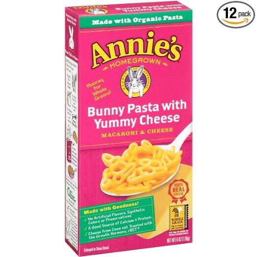 12-Pack 6-oz Annie's Macaroni and Cheese (Bunny Pasta with Yummy Cheese) $6.40 or less w/ S&S + Free S/H