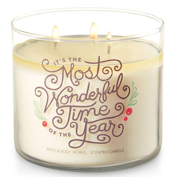 bath body works semi annual sale 3 wick candle various scents page 2. Black Bedroom Furniture Sets. Home Design Ideas