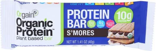 12-Count 1.41oz Orgain Organic Protein Bar (S'More) $4.30 or less w/ S&S + Free S/H