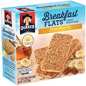 8-Pack of 5-Count Quaker Breakfast Flats Breakfast Bars (Banana Honey Nut) $12 or less w/ S&S + Free S/H