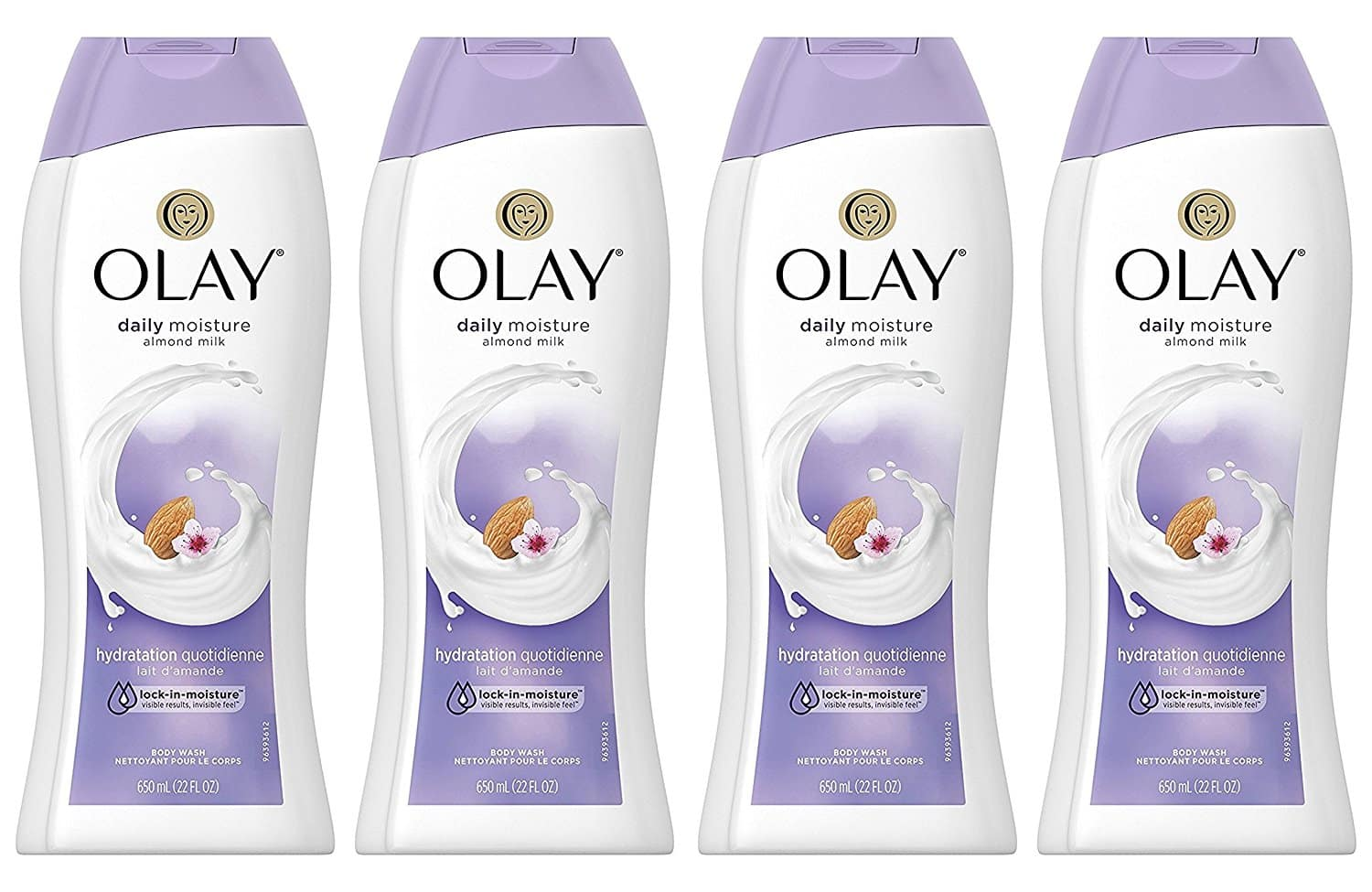 4-Pack of 22oz Olay Daily Moisture with Almond Milk Body Wash $9 + free shipping w/ Prime