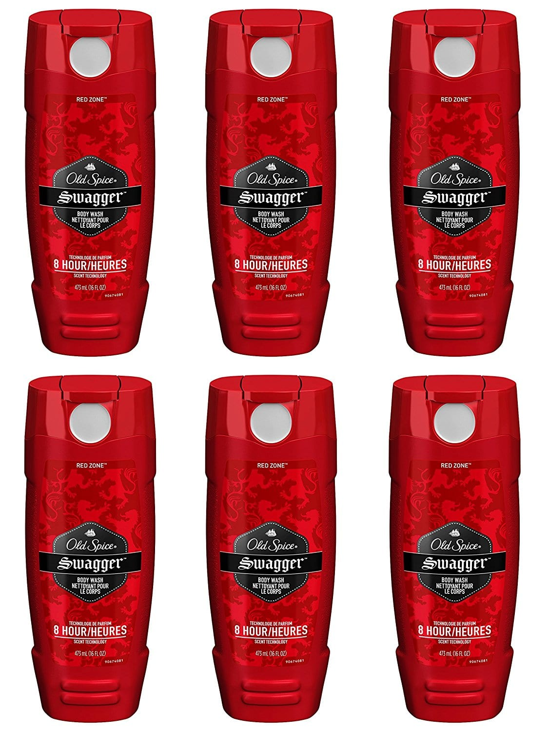 Old Spice Red Zone Men's Body Wash, Swagger, 16 Fluid Ounce (Pack of 6) $12
