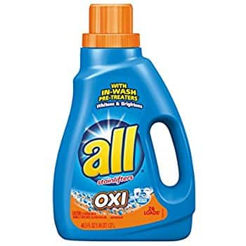 46.5oz All Liquid Laundry Detergent with OXI Stain Removers and Whiteners $2.84 or less w/ S&S + Free S/H