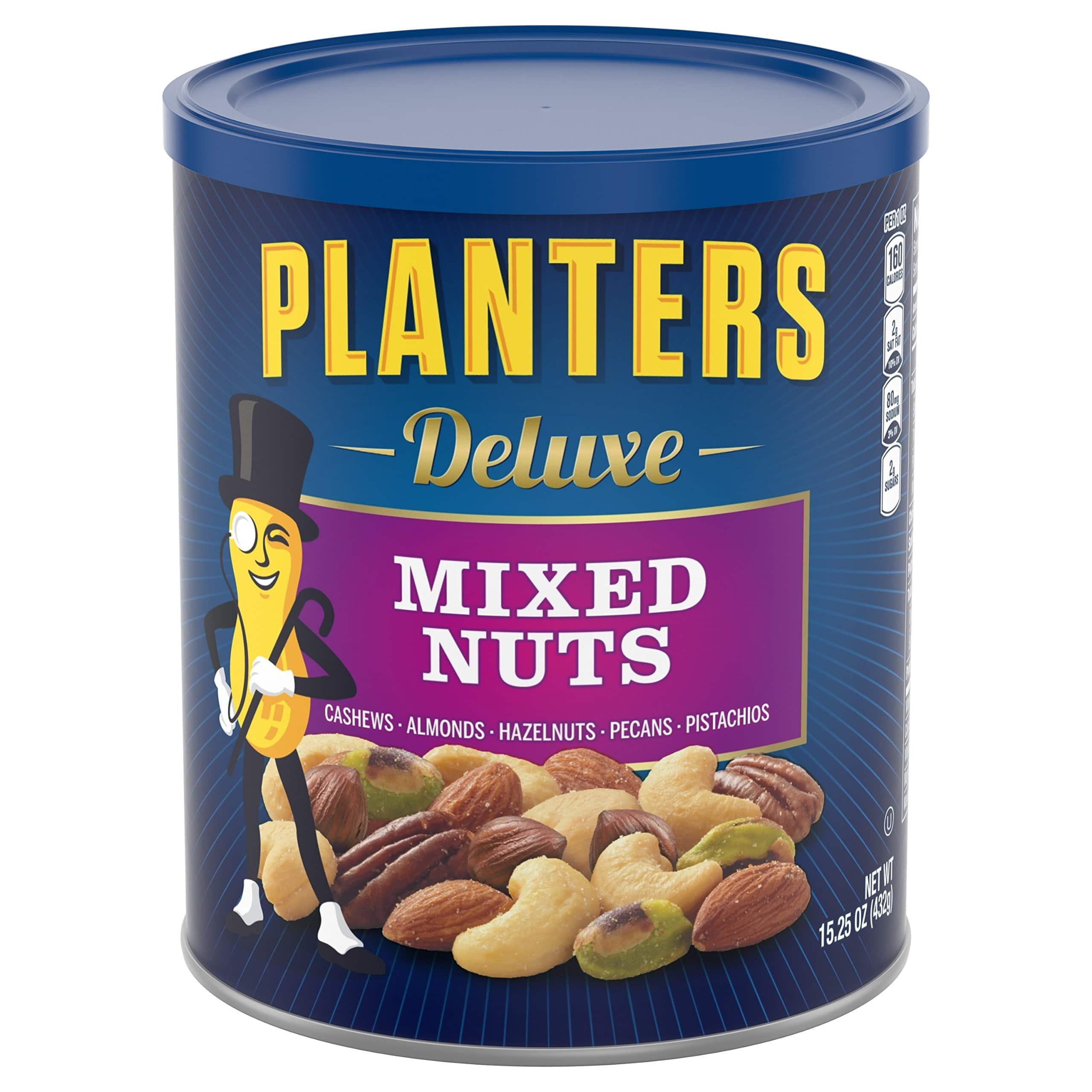 15.25oz Planters Deluxe Mixed Nuts $7.19 or less w/ S&S + Free S/H & More