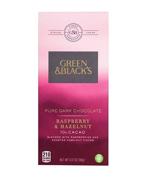 Add-on Item: 6-Pack 3.17oz Green & Black's Pure Dark Chocolate With Raspberry and Hazelnut Candy Bars $5.36