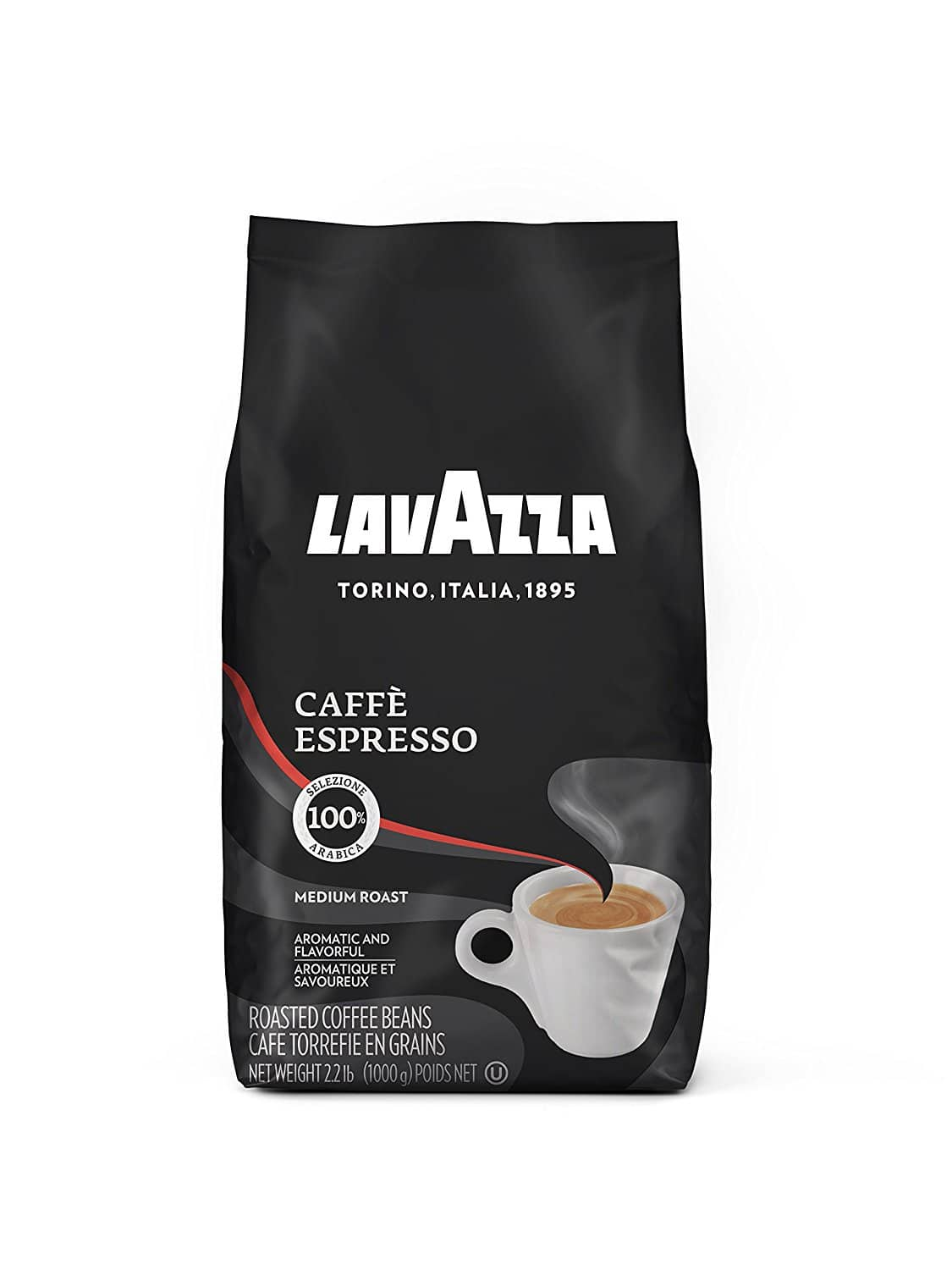 2.2-lb Lavazza Caffe Espresso Whole Bean Coffee Blend (Medium Roast) $13.20 or less w/ S&S + Free S/H