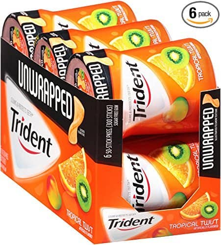 6-Pack 50-Piece Trident Unwrapped Sugar Free Gum (Tropical Twist) $5.99 or less w/ S&S + Free S/H *act fast*