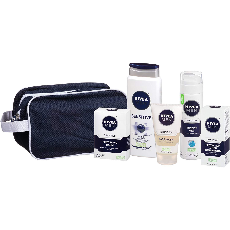 5-Pc Nivea Men's Skin Care Sensitive Collection Gift Set $9.07