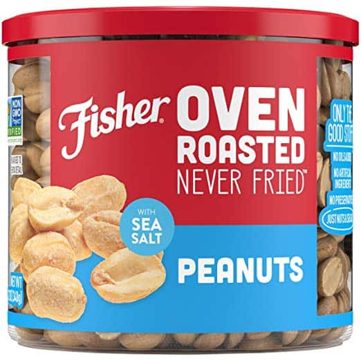 12oz FISHER Oven Roasted Peanuts Free w/ S&S + Free S/H *act fast, won't last long*