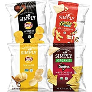 36-Pack 0.875oz Simply Brand Variety Pack (Doritos Tortilla Chips, Lay's Potato Chips, Cheetos Puffs) $9.13 or less w/ S&S + Free S/H