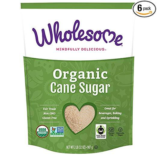 6-Pack 2-lb Wholesome Organic Cane Sugar $1.60 or free + Free S/H w/ S&S