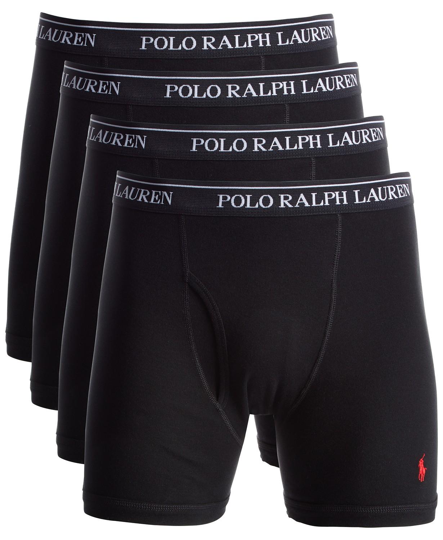 a3cd0358e28f 4-Pack Polo Ralph Lauren Men's Knit Cotton Boxer Briefs - Slickdeals.net