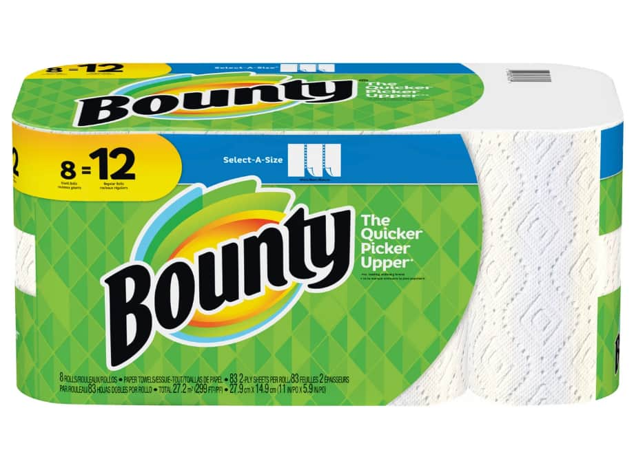 24-Ct Bounty Select-A-Size Giant Roll Paper Towels + $10 Target Gift Card $30.39 + Free Store Pickup