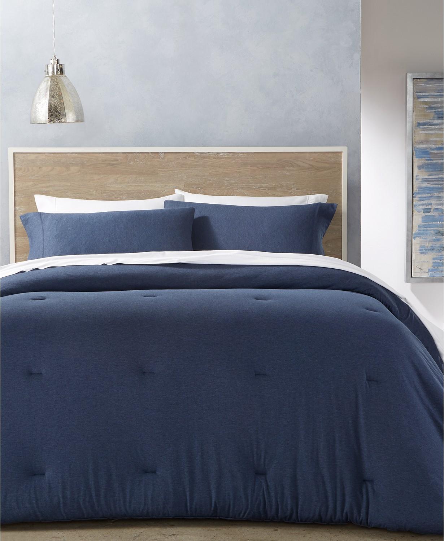 Calvin Klein Modern Cotton 3-Piece King Comforter Set (Indigo or Black) + $25 Macy's eGC via SD Rebate for $52.48 + Free Store Pickup
