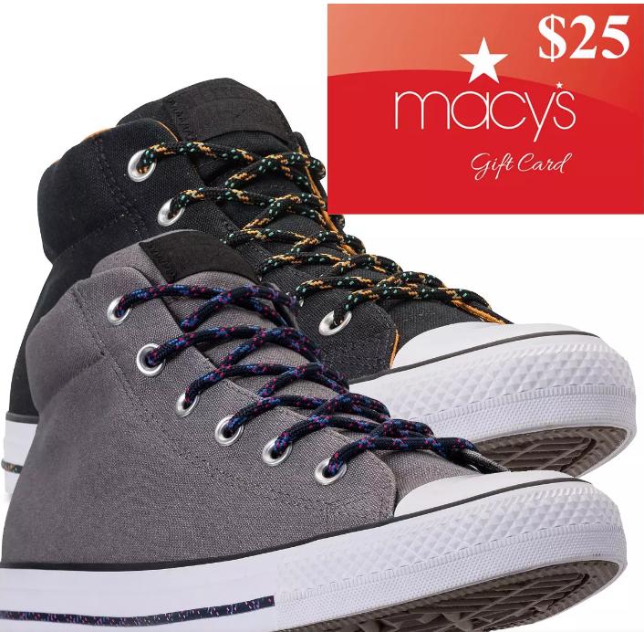 b4b4329045 Converse Men s Chuck Taylor Street Mid Sneakers +  25 Macys eGC ...