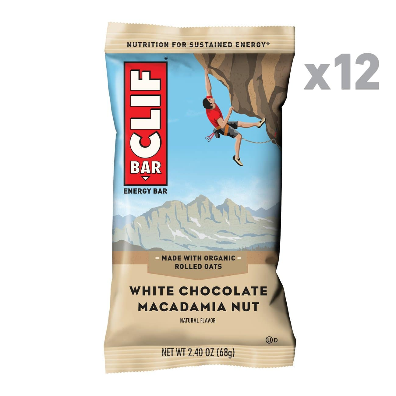 CLIF BAR - Energy Bar - White Chocolate Macadamia Nut (2.4 Ounce Protein Bar, 12 Count) for 5.68 after S&S at Amazon $5.68