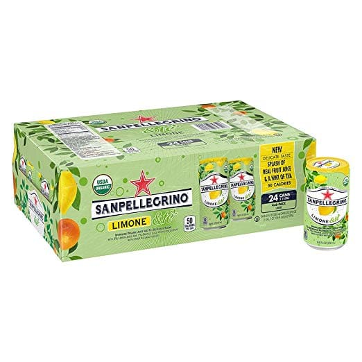 24-Pack 8.45oz San Pellegrino Sparkling Organic Juice & Tea Beverage Blend (Limone &te) $12.95 or less w/ S&S + Free S/H