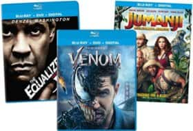 Select Blu-ray Movies (Venom, The Equalizer 2, Baby Driver