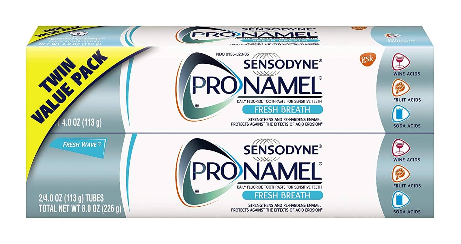 2-Pack of 4oz Sensodyne Pronamel Fresh Breath Toothpaste $7.80 w/ S&S + Free S/H