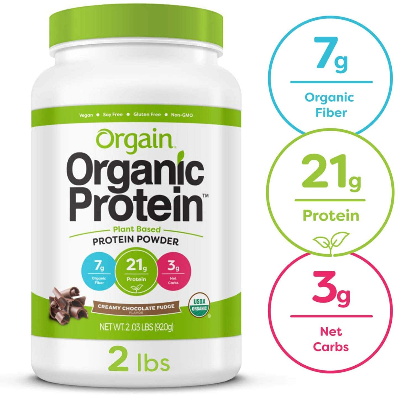 2.03-Lbs Orgain Organic Plant Based Protein Powder (Creamy Chocolate Fudge) $13.58 or less w/ S&S + Free S/H