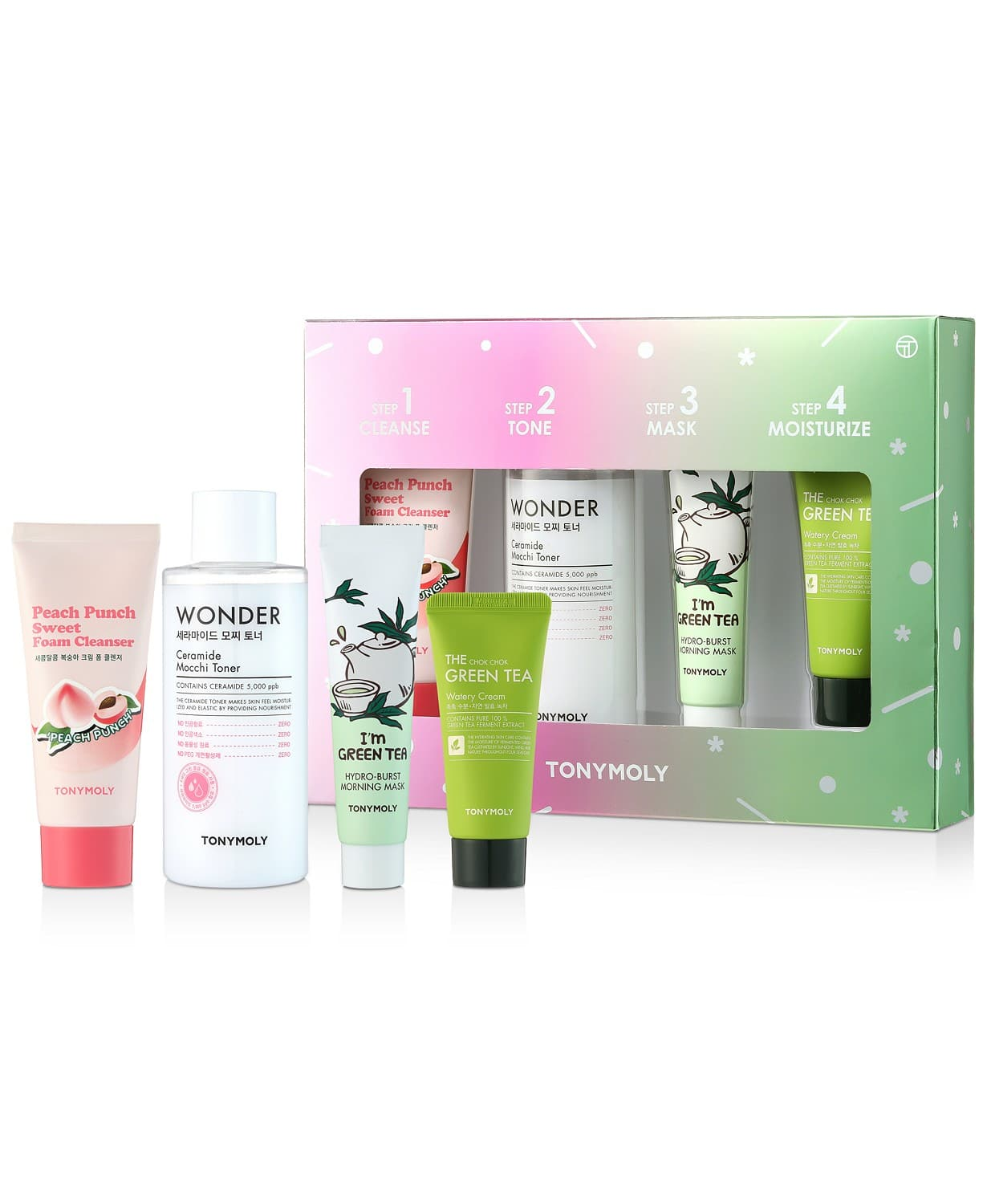4-Piece TONYMOLY Four Steps For Glowing Skin Care Set $11.90 + Free S/H on $25+