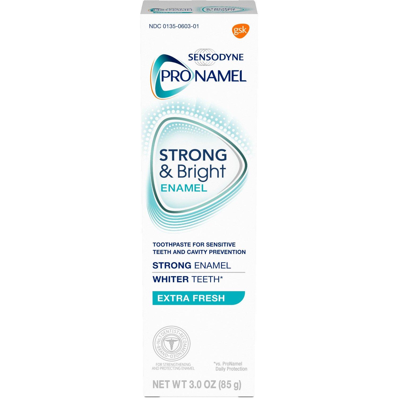 3-Ct 3oz Sensodyne Pronamel Strong & Bright Enamel Toothpaste $5.55 or less w/ S&S