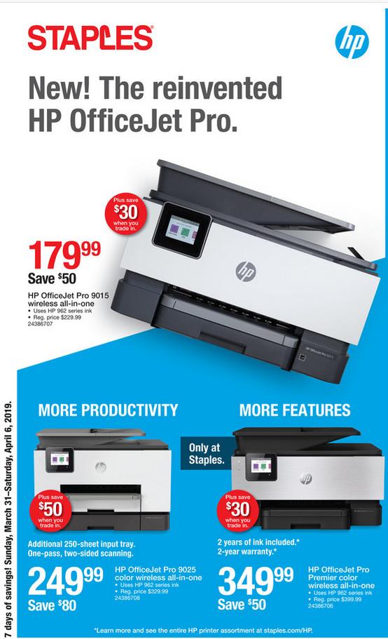 Staples HP OfficeJet Pro Series - Slickdeals net