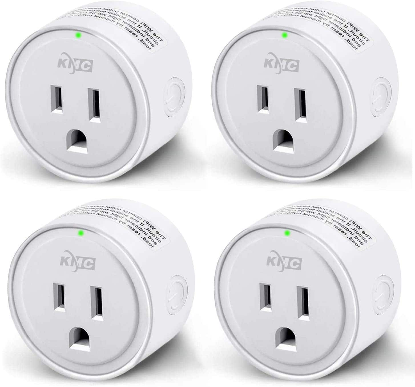 KMC WIFI MiNi Smart Plug 4 pack Works with Alexa, Google Home & IFTTT, Smart Life, No Hub Required  $19.19