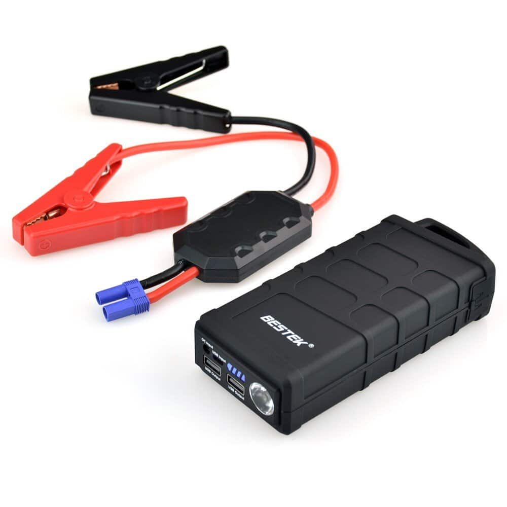 BESTEK-Multi-Functional-Car-Jump-Starter-Built-in-10000mAh-Battery-Capacity-with-SOS-and-Strobe-Light-Modes-and-USB-Charge-Ports - Free Shipping $31.99