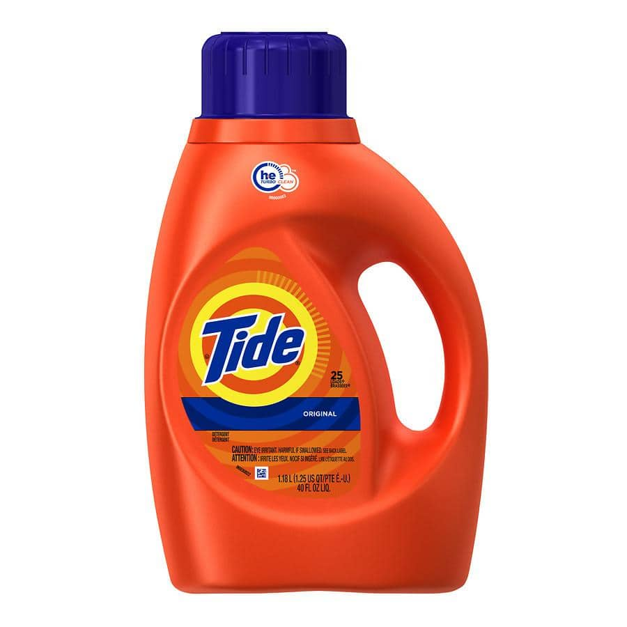 Tide laundry detergent 40oz $2 (Walgreens)