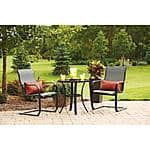 Mainstays Pyros 3-Piece Patio Bistro Furniture Set + Two Throw Pillows $126 + FREE SHIPPING @ Walmart