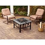Mainstays Outdoor Square Fire Pit Table $58.30 + FREE SHIPPING @ Walmart