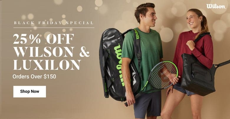 Tennis Warehouse - 25% off Wilson and Prince rackets (above $150) 20% off Babolat (above $185) and Nike deals