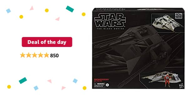 Deal of the day for Prime Members: Star Wars The Black Series Snowspeeder Vehicle with Dak Ralter Figure 6-Inch-Scale-The Empire Strikes Back $67.99 normally $120