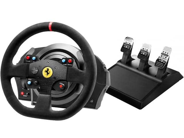 Thrustmaster TX Racing Wheel Leather Edition Racing Wheel Set for Xbox/PC & T300 Racing Wheel Alcantara Edition for PS4/PC both w/T3PA Pedals $298.99 B&H Photo No Tax&Free Shipping