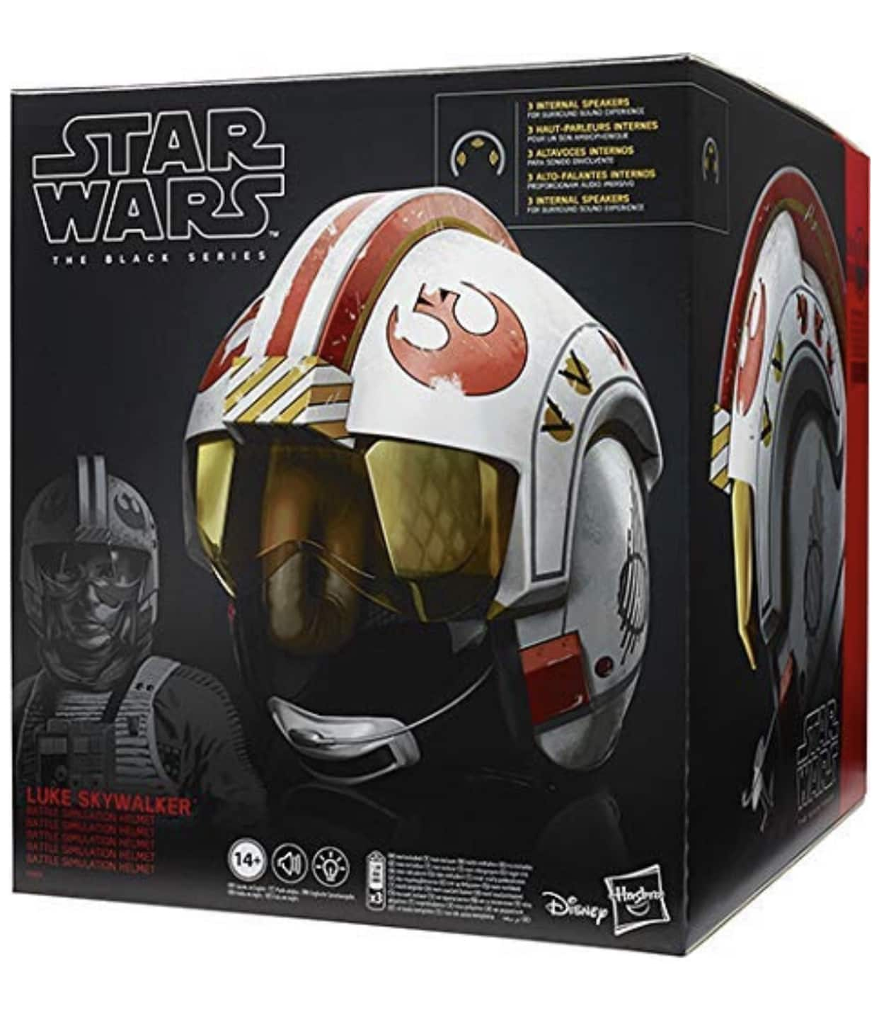 Star Wars The Black Series Luke Skywalker Battle Simulation Premium Electronic Helmet. 1:1 Scale with Lights & Sounds. $89.99 after coupon at Amazon.