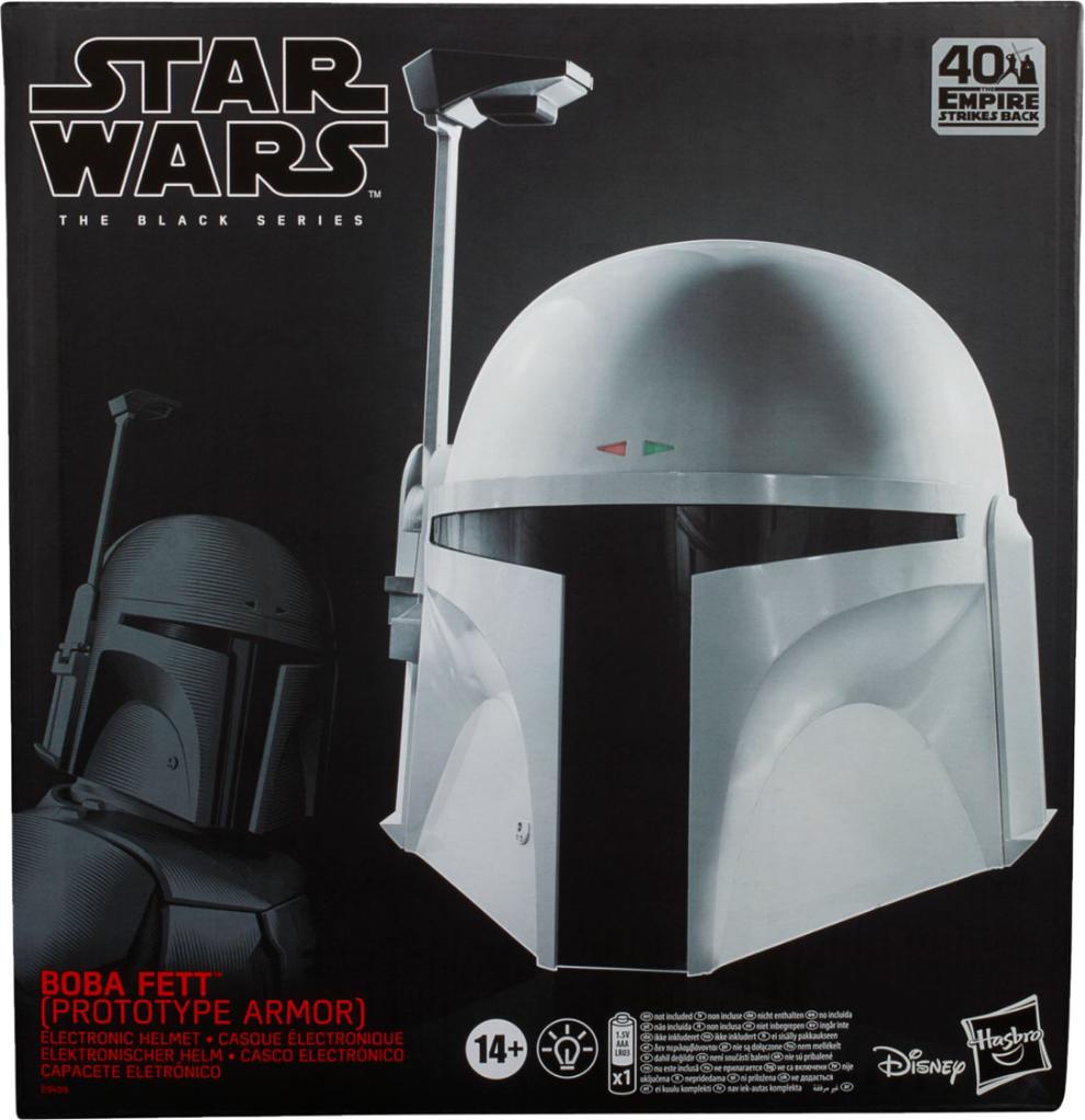 Hasbro Star Wars The Black Series Prototype Boba Fett Electronic Helmet $99.99 at Best Buy