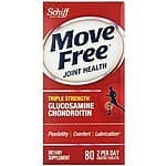 Schiff Move Free Triple Strength Glucosamine Chondroitin and Hyaluronic Acid Joint Supplement, 80 Count $11.99