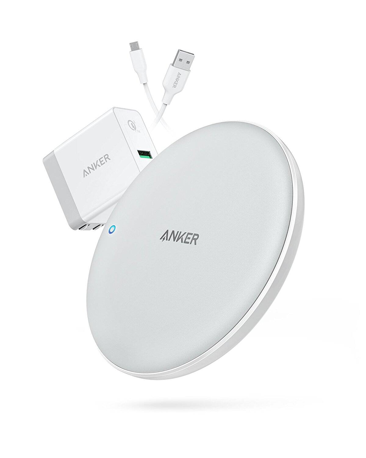 Anker PowerWave 7.5 Pad: 7.5W Fast Wireless Charger w/ Quick Charge 3.0 (AC Adapter Included) $31.99